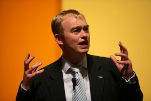 Tim Farron speaking at rally Credit: Liberal Democrats/Flickr
