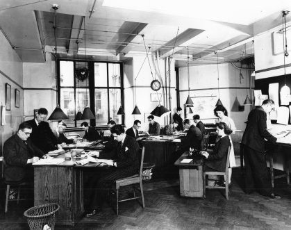 The Scotsman newsroom in 1948